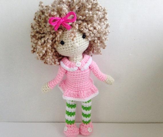 Crochet Doll / Amigurumi Girl Doll / Stuffed by HelloSweetKids