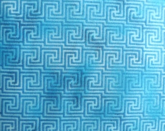 Paintbrush Studios Tribal Council Turquoise Quilters Cotton Fabric BTY