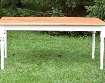 REDUCED - Oak Dining Table, Country Table, Farmhouse - Ready to Ship