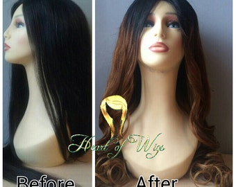 Custom Colouring Wig Services, Bundle colouring services, Ombre, Highlight  e.t.c