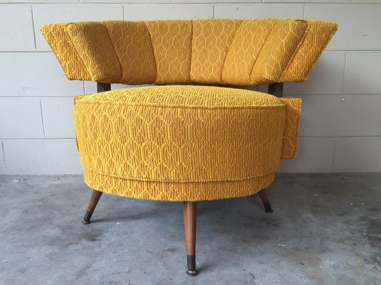 mid century 1960 s kroehler vintage swivel retro chair
