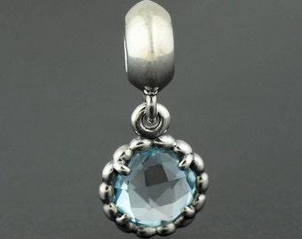 Genuine Authentic Pandora Charm Blue Bell Pendant 791021BTP  NEW
