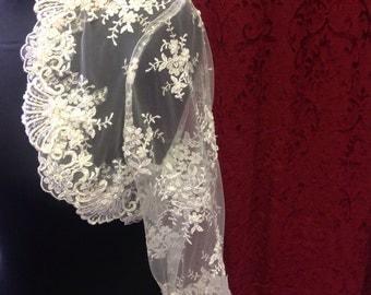 Antique style lace wedding bolero