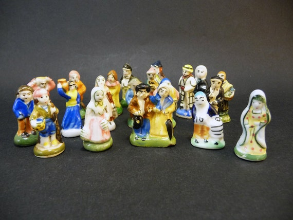 Feves France  city photos : 20 french feves vintage miniatures nativity jesus lady virgin mary ...