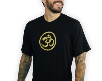 Men's Om Shirt - Yoga Shirt Mens - Man's Om shirt - Lycra Workout Yoga Top - Men Om yoga Shirt - Yoga Shirt - MA1