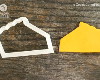 Pie Slice Cookie Cutter, Mini and Standard Sizes, 3D Printed