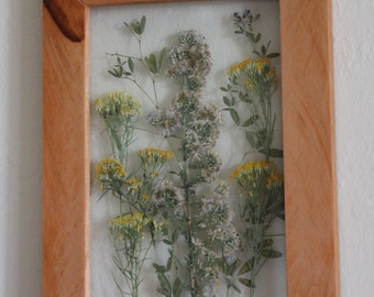 Pressed Wildflowers In a Reclaimed Wood Frame