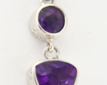 Handcrafted Sterling Silver Amethyst Pendant