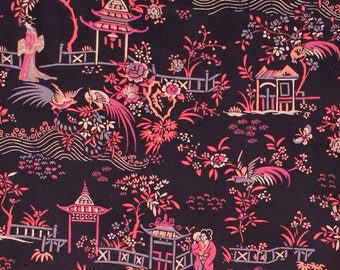"Liberty of London Tana Lawn 2015 Autumn/Winter Art Collection PEONY PAVILION B - sold by XL Fat Quarter (19.75"" x 26.75"") or by 1/4 Metre"