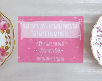 Simply Love Wedding Save The Date A6