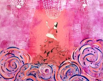 """Mixed Media Collage Art """"All That Glitters"""""""