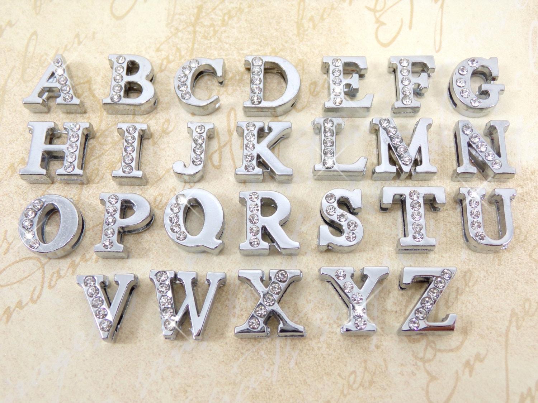 Slider letter charms slide charm letters individual half slider letter charms slide charm letters individual half rhinestone wholesale 8mm charms serif font charm bling alphabet slide letter beads mozeypictures Gallery