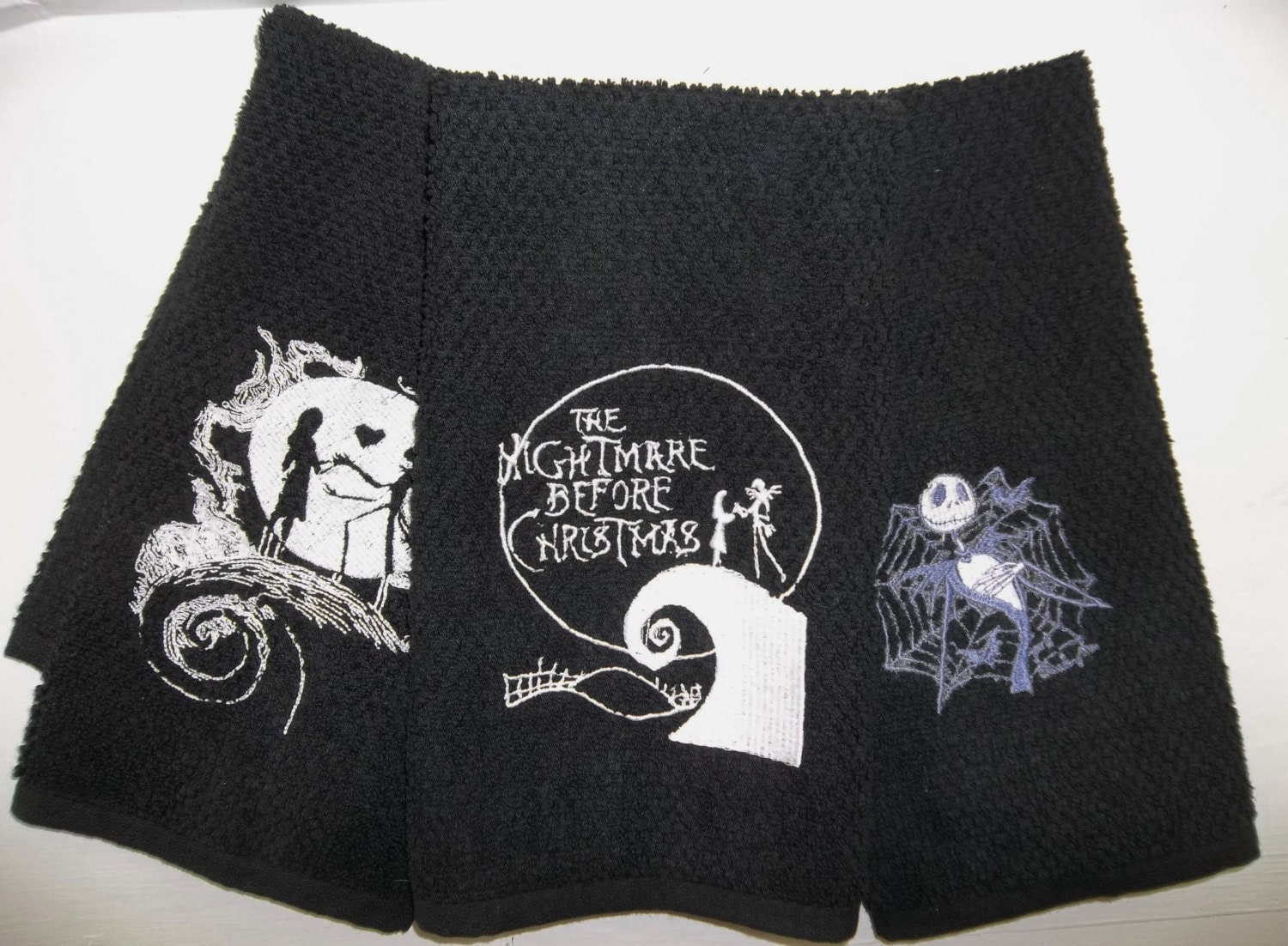 Nightmare Before Christmas Kitchen Hand Towels Jack