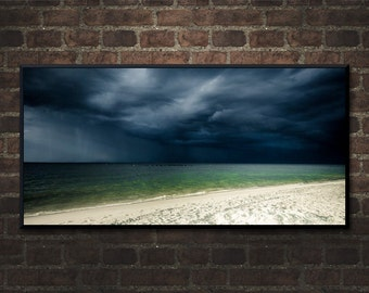 Beach Photography, Metal Print, Dauphin Island Storm, Southern Photography, Sky and Weather, Beach Storm Photography, Print on Aluminum