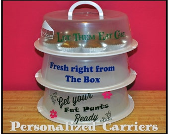 Personalized Cake Carrier/ Cupcake Carrier/ Pie Carrier/Cookie Carrier