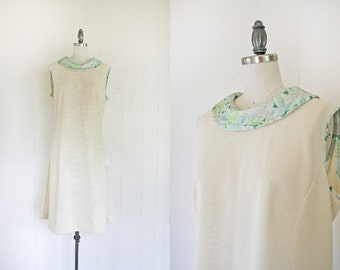 Women's 1960s Vintage Mod Dress // 60s Mod Dress - Large to X-Large // Vintage Women's Mod Dress