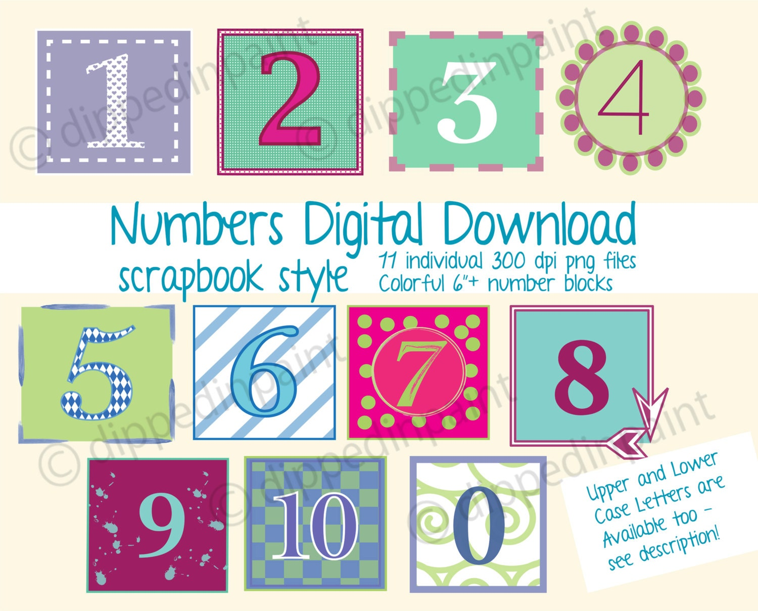 numbers png files 6 inch colorful number blocks graphic art