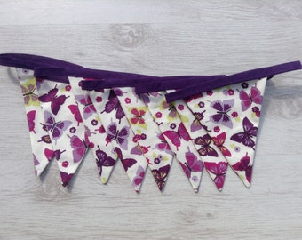 Lilac Butterfly Bunting