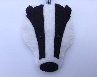 Felt Badger Hanging Decoration