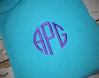 Monogrammed Short or Long Sleeve T-Shirt, Short Sleeve Monogrammed Shirt, Long Sleeve Monogrammed Shirt, Women's Monogrammed Shirt
