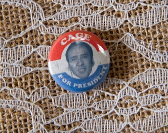 """Nicolas Cage Inspired  for President 1"""" pin, magnet, pinback"""