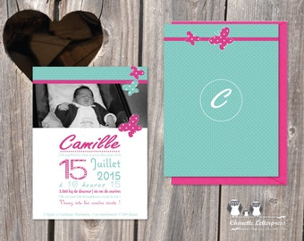"Birth announcements ""Camille"""