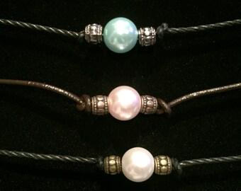 Metallic Pearl Choker
