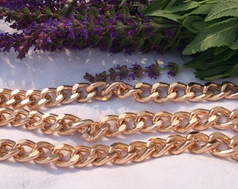 Gorgeous Rose Gold Chunky Curb Chain