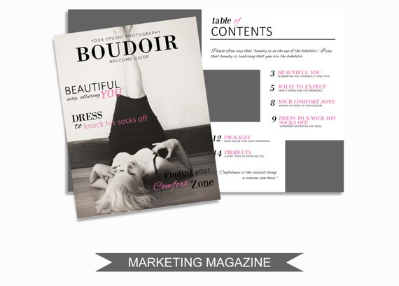 boudoir magazine template for photographers 16 page studio
