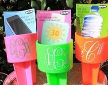 Set of 36 Custom Monogrammed Beach Spiker, Beach Drink Holder, Beach Wedding, Bouquet Holder, wedding favors, Bridal party gifts, wedding