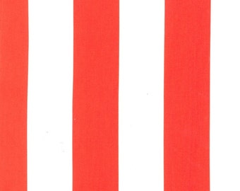 "Two by Two Clementine Red and White 2 "" Wide Stripe by Michael Miller - PC3745-CLEM-D"