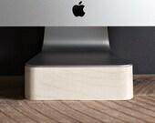 iMac Lift Stand - Maple Wood