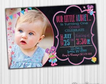 Abby Cadabby Birthday Invitation, Printable, Announcement, Invite, Milestone, Custom,Digital,