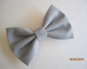 Light grey bow tie, Men grey bow tie, Boy's geay bow tie, Adjuster slide bow tie. grey wedding bow tie, Gray cotton bow tie for men