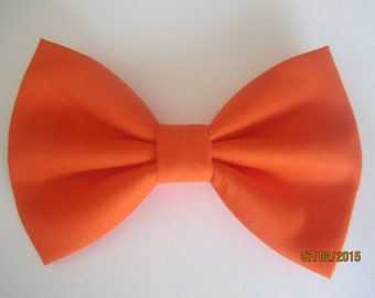 Orange bow tie for men, orange cotton bow tie, boy orange bow tie. orange wedding bow tie, custom bow tie for wedding, solid orange bow tie