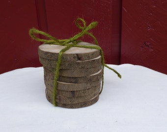 Oregon myrtle wood discs/reclaimed wood/eco friendly/wedding/wood crafts/christmas crafts