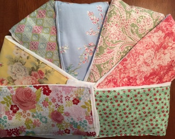 Shabby chic burp cloths