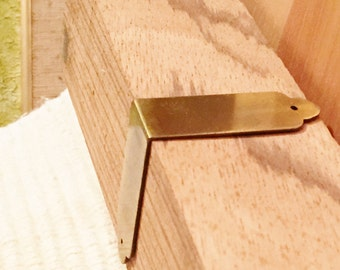 Solid Brass Campaign Hardware: Corner Pieces