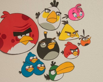 Angry Birds and Pigs Wall Decoration