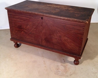 Antique Grained Poplar Blanket Chest - For Pick-Up or Local Delivery Only