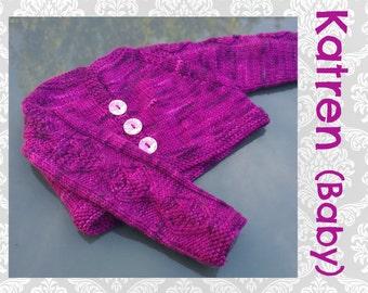 Katren Baby Cardigan Knitting Pattern