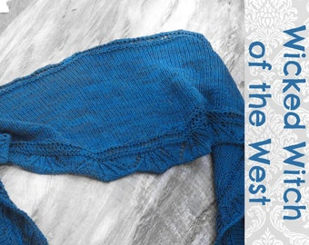 Wicked Witch of the West shawlette Knitting Pattern