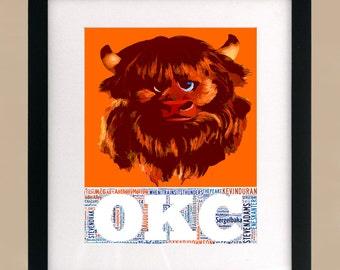 Oklahoma City Thunder Rumble Print