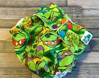 Turtle NB/Small Cloth Pocket Diaper