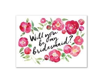 Be my Bridesmaid - A6 Greeting Card