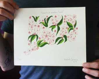 Connecticut Mountain Laurel, hand-pulled screen print