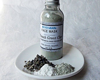 French Green Clay Facial Mask, Green Clay Mask, Face Mask