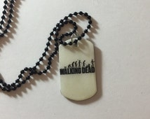 The walking dead necklace/the walking dead dog tag necklace/handmade jewelry/TV jewelry