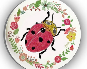 Ladybug Ladybird Ceramic Drawer Knob Cabinet Pull