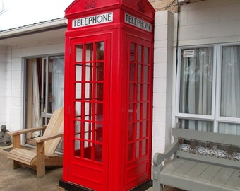 Red English Telephone booth plans | PDF downloadable file